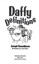 Cover of: Daffy definitions