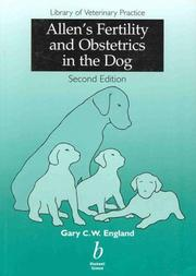 Cover of: Allen's fertility and obstetrics in the dog