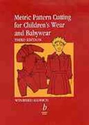 Cover of: Metric pattern cutting for children's wear and babywear