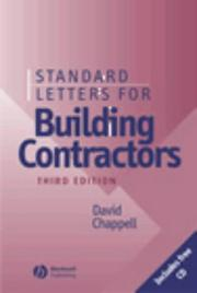 Cover of: Standard letters for building contractors