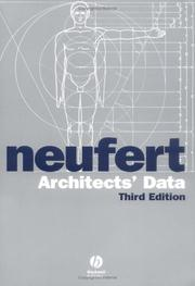 Cover of: Architects' data