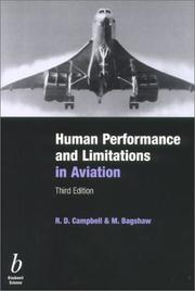 Cover of: Human Performance & Limitations in Aviation, Third Edition | R. D. Campbell, M. Bagshaw