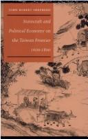 Cover of: Statecraft and political economy on the Taiwan frontier, 1600-1800