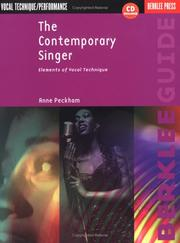 Cover of: The contemporary singer | Anne Peckham