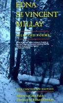 Cover of: Edna St. Vincent Millay : selected poems