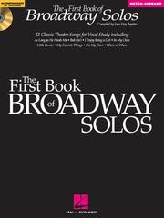 Cover of: The First Book of Broadway Solos - Mezzo-Soprano | Joan Frey Boytim