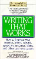 Cover of: Writing that works | Kenneth Roman