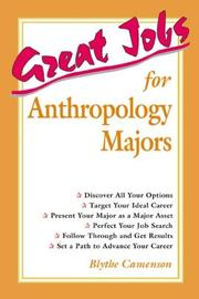 Cover of: Great jobs for anthropology majors | Blythe Camenson
