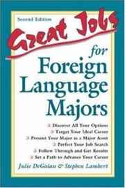 Cover of: Great jobs for foreign language majors