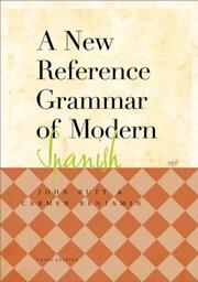 Cover of: A new reference grammar of modern Spanish