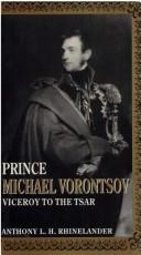 Cover of: Prince Michael Vorontsov