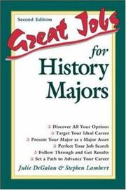 Cover of: Great jobs for history majors