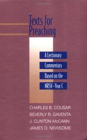 Cover of: Texts for preaching : a lectionary commentary, based on the NRSV