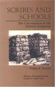 Cover of: Scribes and schools: the canonization of the Hebrew Scriptures