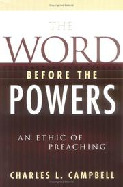 Cover of: The Word Before the Powers | Charles L. Campbell