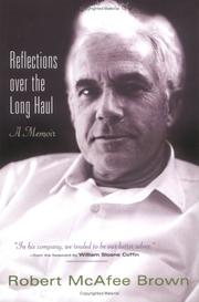 Cover of: Reflections Over The Long Haul | Robert McAfee Brown