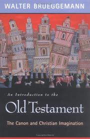 Cover of: An introduction to the Old Testament: the canon and Christian imagination