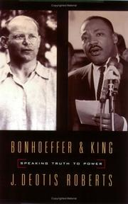 Cover of: Bonhoeffer and King