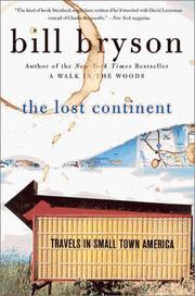 Cover of: The Lost Continent | Bill Bryson