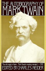 Cover of: Autobiography of Mark Twain | Charles Neider