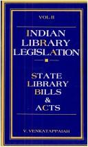 Cover of: Indian library legislation