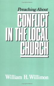 Cover of: Preaching about conflict in the local church