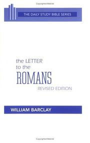 Cover of: The Letter to the Romans