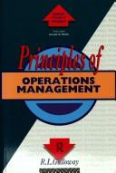 Cover of: Principles of operations management