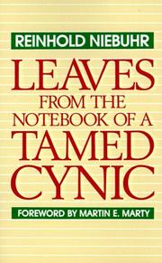 Cover of: Leaves from the notebook of a tamed cynic