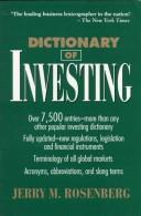 Cover of: Dictionary of investing