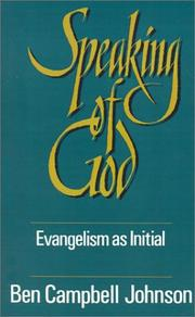 Cover of: Speaking of God: evangelism as initial spiritual guidance