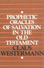 Cover of: Prophetic oracles of salvation in the Old Testament