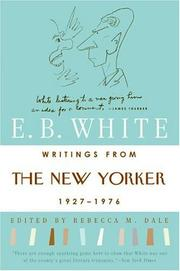 Cover of: Writings from The New Yorker 1927-1976 | E. B. White