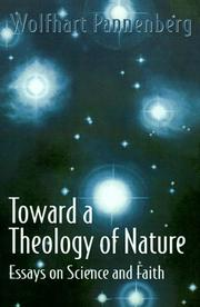 Cover of: Toward a theology of nature