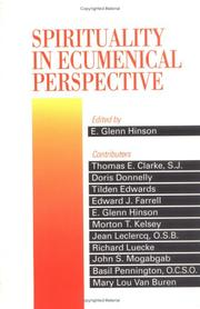 Cover of: Spirituality in ecumenical perspective |