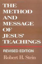 Cover of: method and message of Jesus