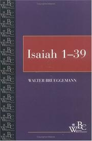 Cover of: Isaiah (Westminster Bible Companion) (Volume 1, Chapters 1-39)