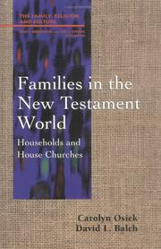 Cover of: Families in the New Testament world
