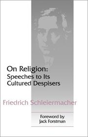 Cover of: Über die Religion