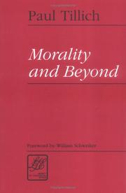 Morality and beyond by Paul Tillich