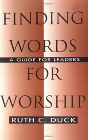 Cover of: Finding words for worship