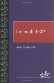 Cover of: Jeremiah 1-29