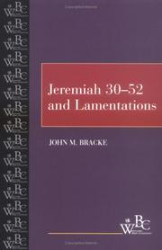 Cover of: Jeremiah 30-52 and Lamentations