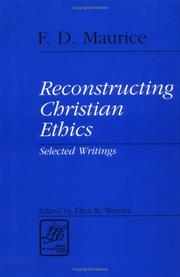 Cover of: Reconstructing Christian ethics