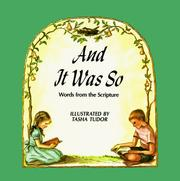 Cover of: And It Was So: Words from the Scripture