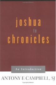 Cover of: Joshua to Chronicles | Antony F. Campbell