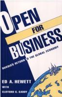 Cover of: Open for business | Edward A. Hewett