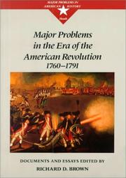 Cover of: Major Problems in the Era of the American Revolution | Richard Brown