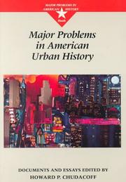 Cover of: Major problems in American urban history |