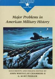 Cover of: Major problems in American military history